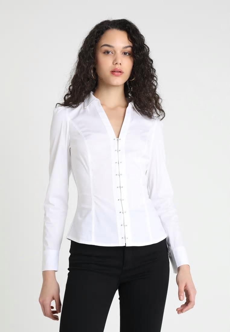 MORGAN biała koszula diamenciki 36 s XS