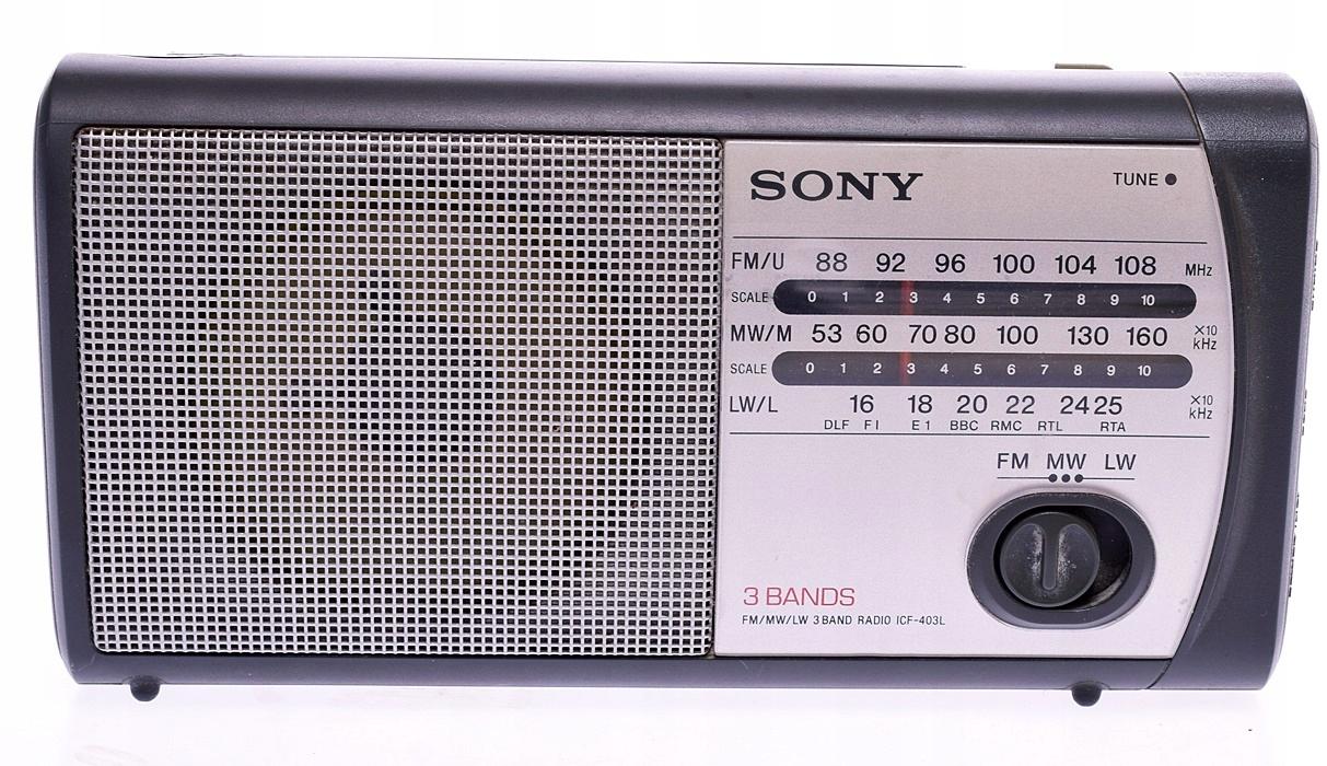 4314-27 ....SONY 3 BANDS... RADIO Z ANTENKA 10CM