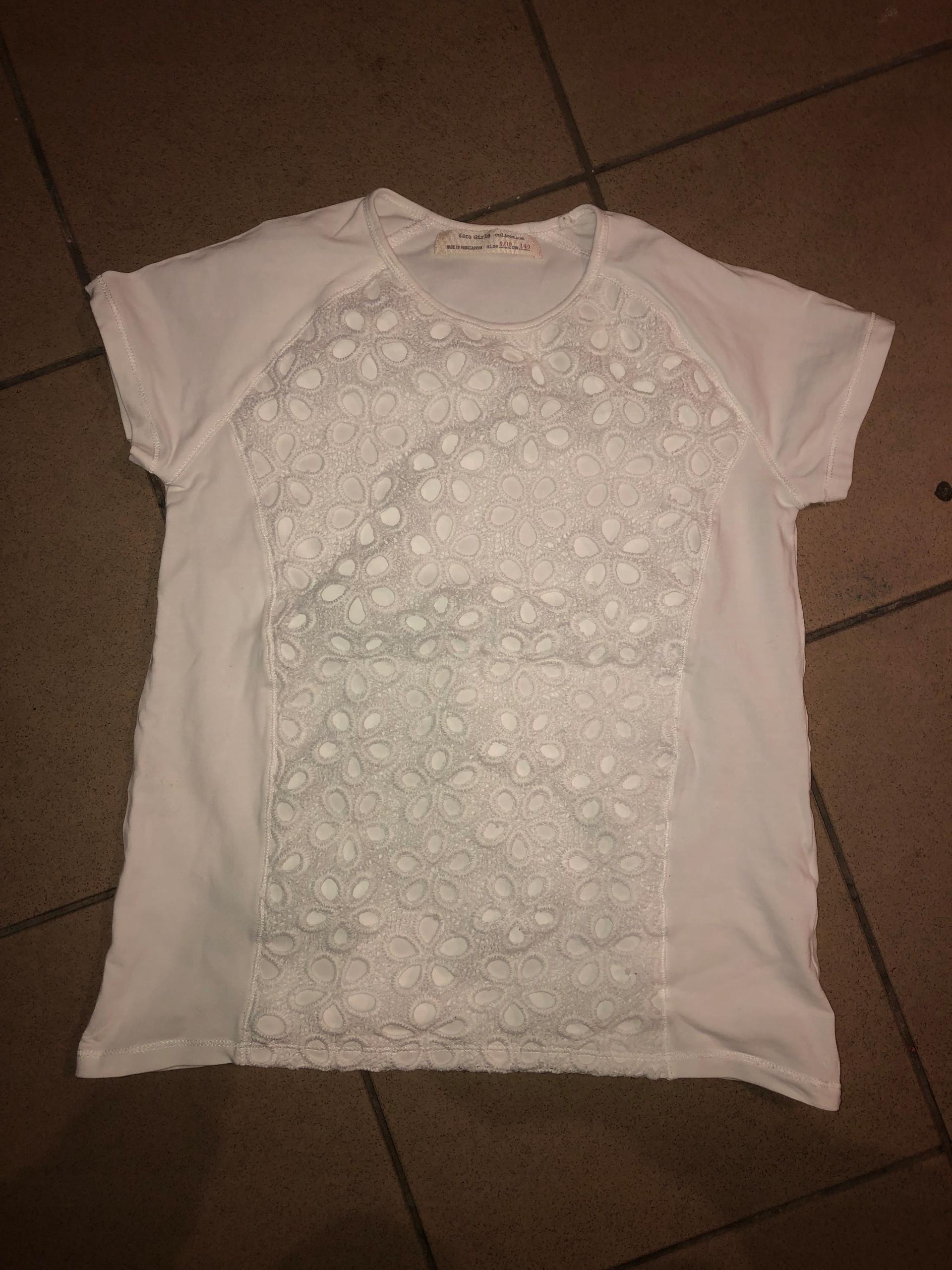 bluzka Zara girls z koronka rozmiar 140