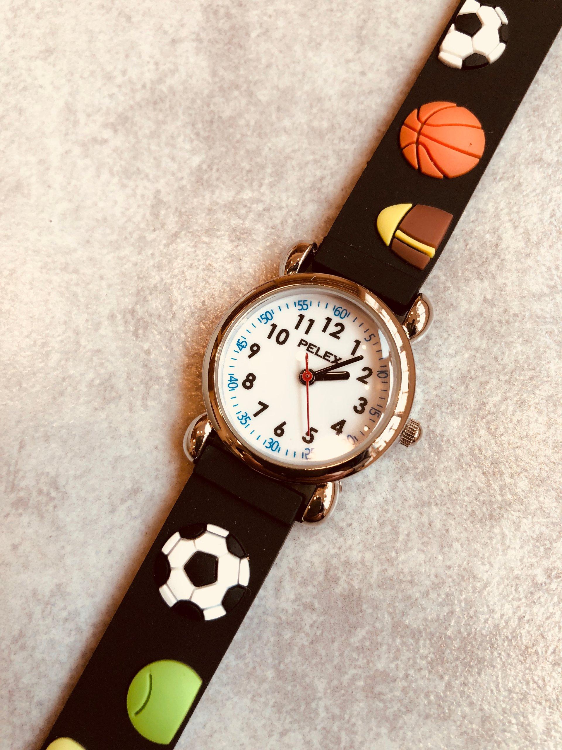 Zegarek Dzieciecy Pelex Czarny Sportowy Pilki
