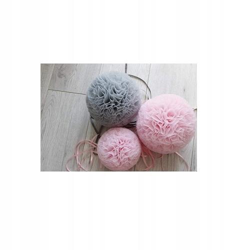 Allepompon - Pompony tiulowe - zestaw 3 sztuk