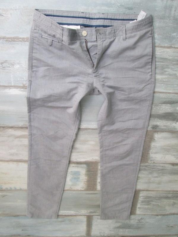 ZARA MAN BASIC__ męskie spodnie CIENKIE__W34L32 44
