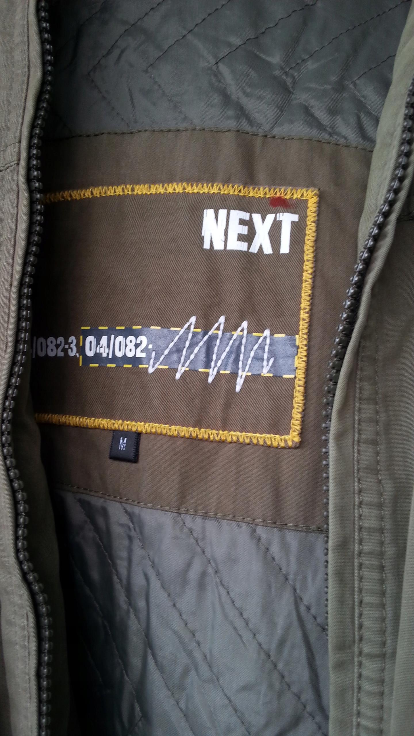 Kurtka militarna NEXT wiosenno-jesienna pachy 65cm