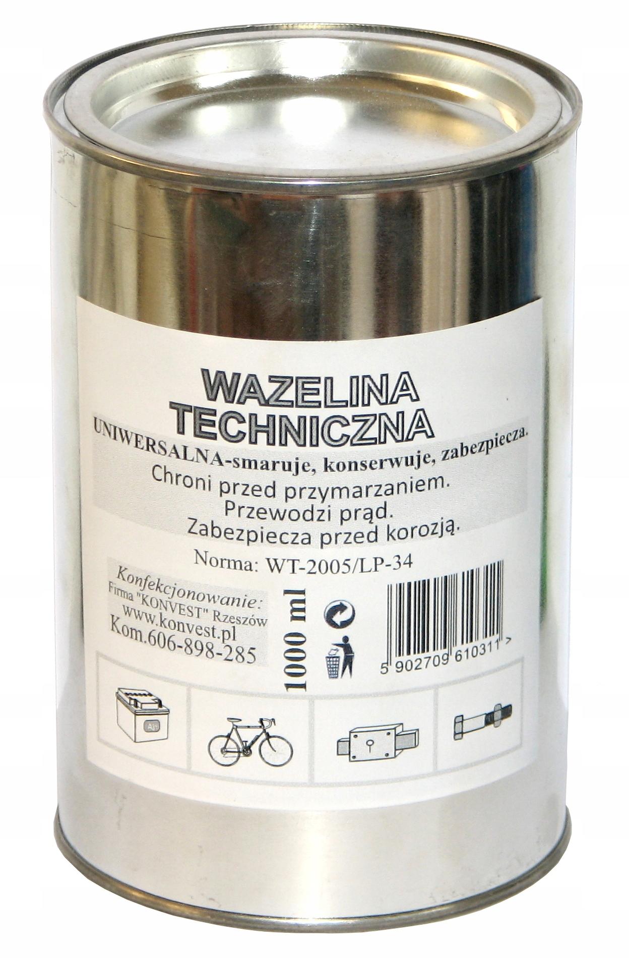 Wazelina Techniczna Bezkwasowa 1l Puszka