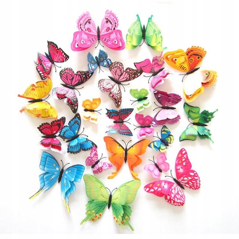Motyle 3d Dekoracyjne Pcv Na ścianę I Lodówkę 7577527846