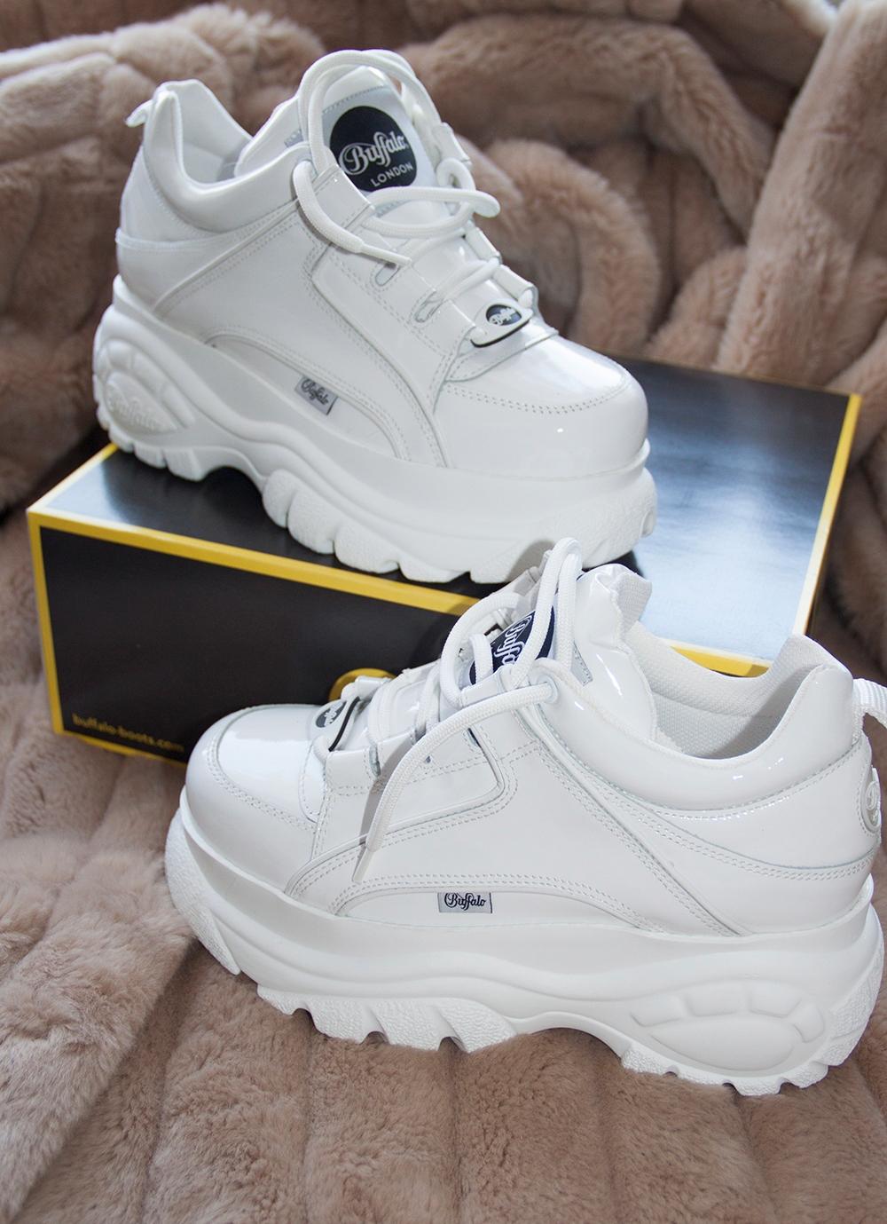 36db4c5112493 NOWE Buty Buffalo London 41 białe platformy goth - 7831607486 ...