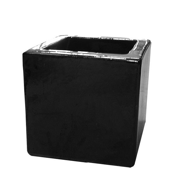 Czarne Kwadratowe Donice Ceramiczne 35x3535 Cm 7057301017