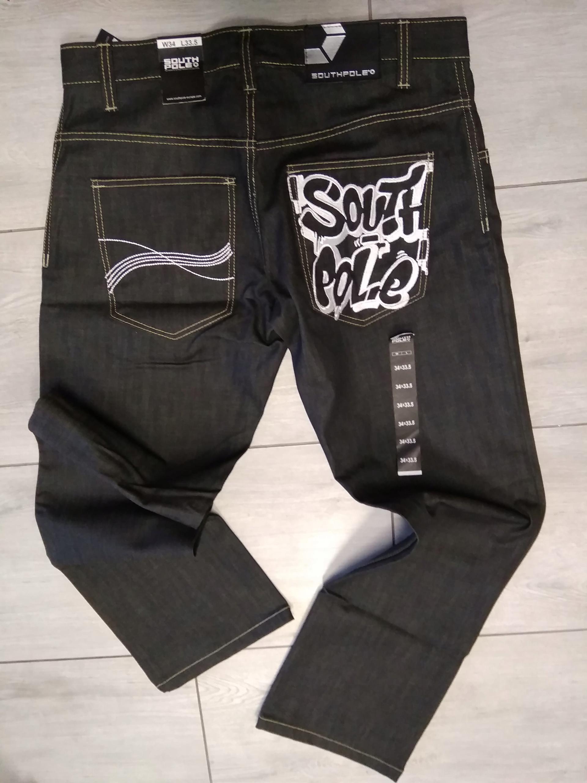 spodnie jeans south pole 34 m l nowe skate mass dc