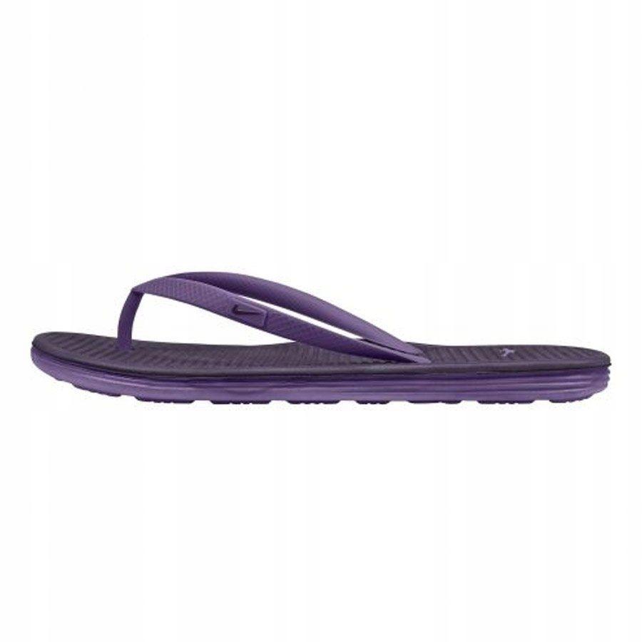 Klapki Damskie japonki Nike Solarsoft fioleto 36.5