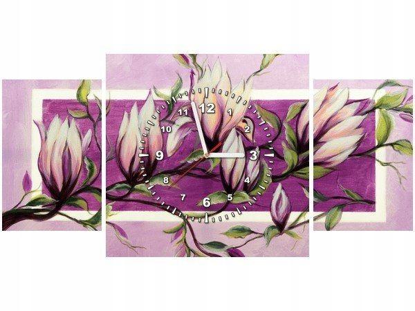 80x40cm zegar Słodycz magnolii obraz druk dekoracj