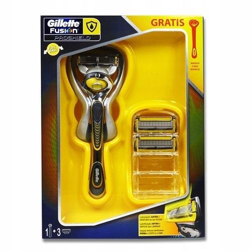 Gillette Fusion Proshield Zestaw Rączka + 3 Wkłady