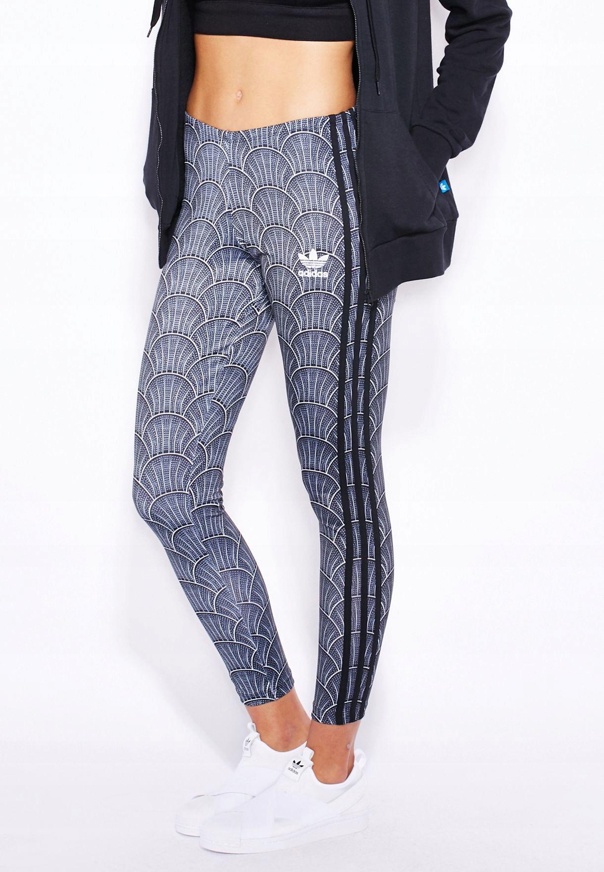 Adidas Shell Tile Legginsy-Black trening Siłownia