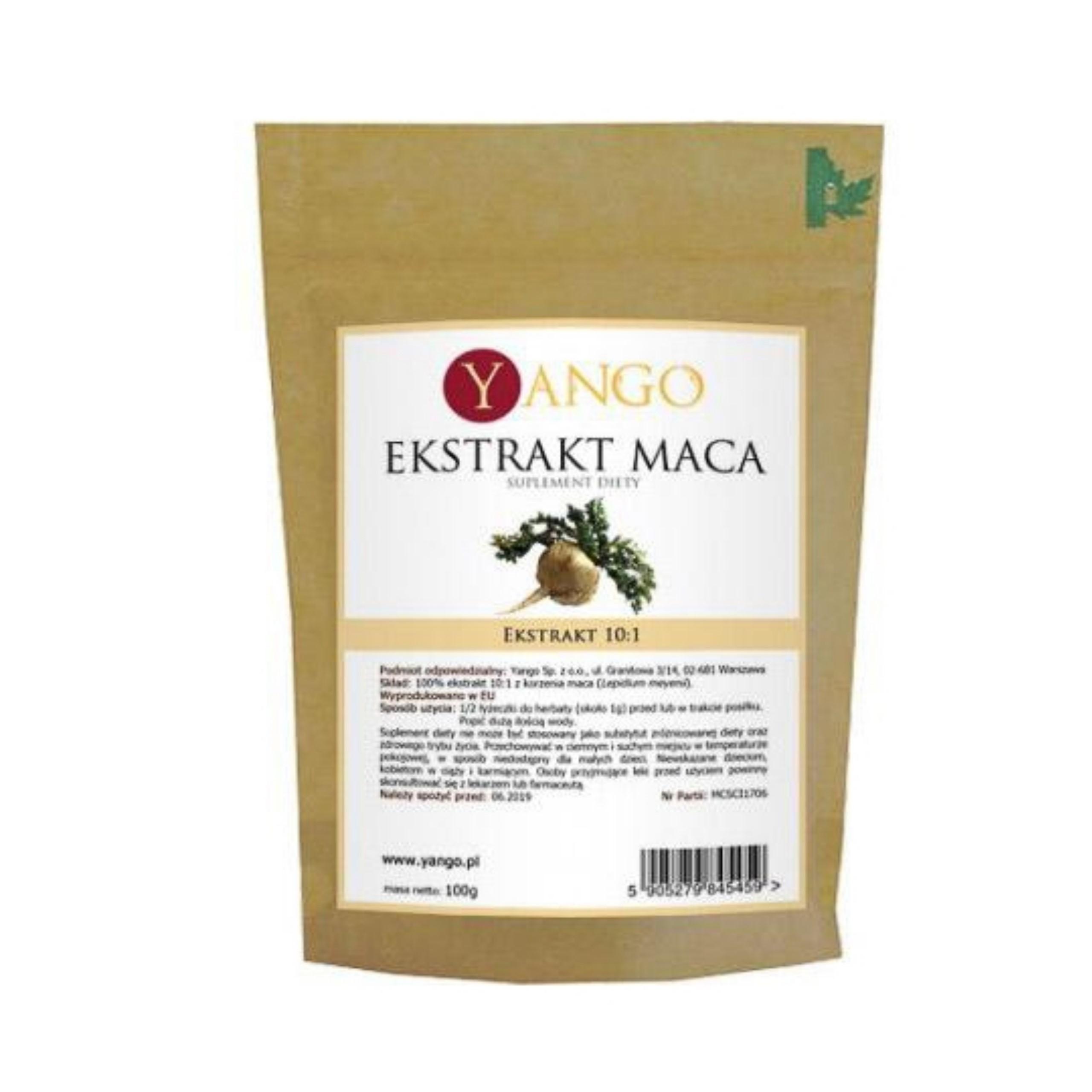 Korzeń Maca - ekstrakt 10:1 - 100g YANGO APTEKA