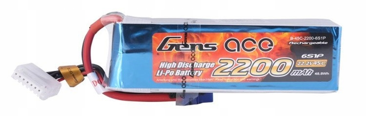 Akumulator Gens Ace 2200mAh 22.2V 45C 6S1P