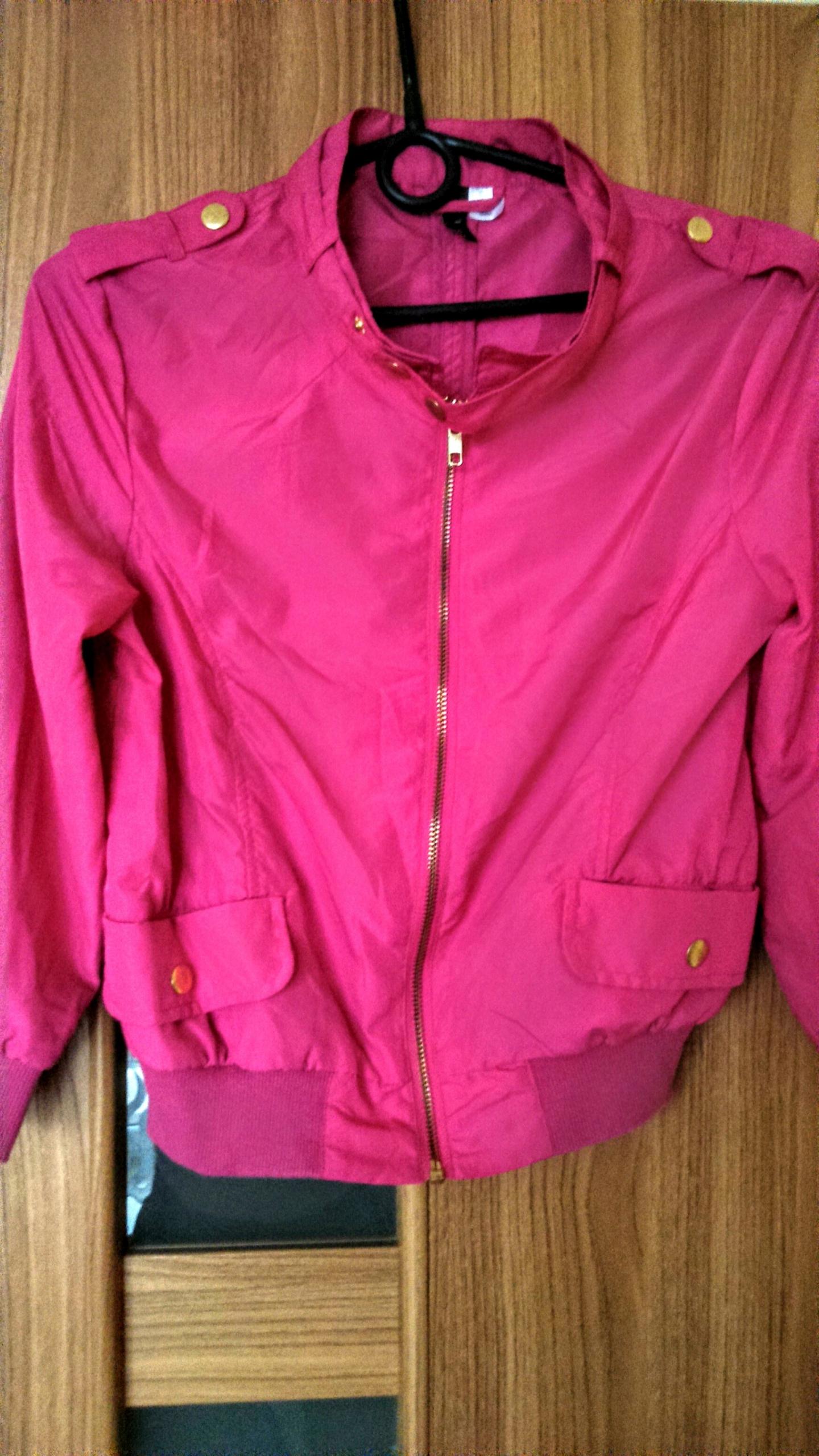 Bluza damska Adidas r. 36 S róż fuksja stójka zamek