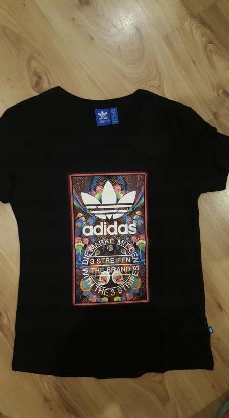 Adidas- sliczna koszulka czarna 170 cm 36