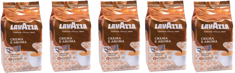 5 x 1 100 g kawa ziarnista Lavazza CREMA E AROMA