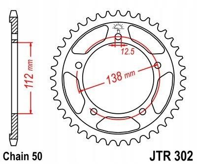 JT ZĘBATKA TYLNA 408 43 HONDA CBR 600F 91 96 CBF 1