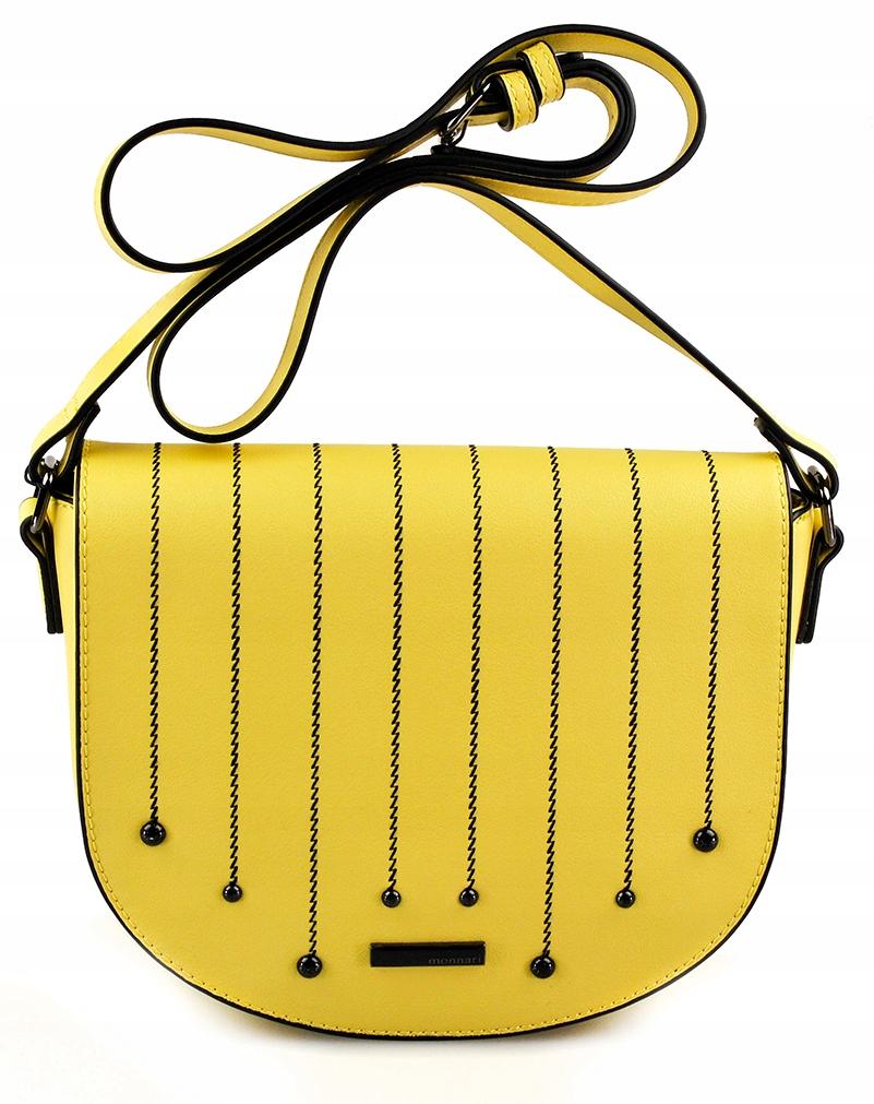 Torebka MONNARI Żółta Listonoszka Logo