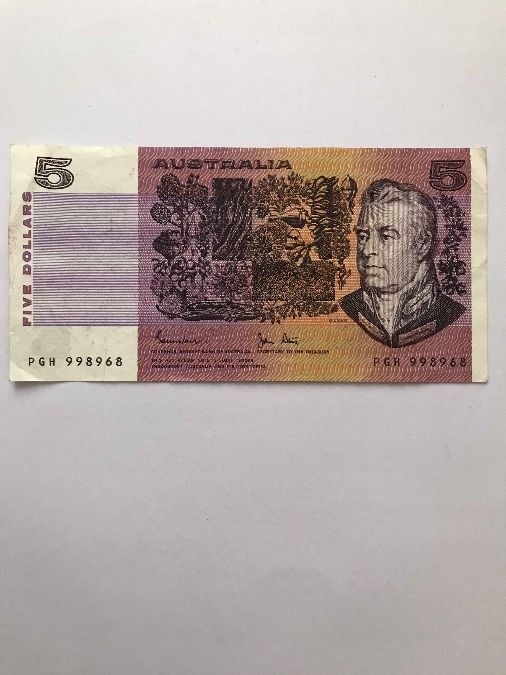 Banknot Australia 5 Dollarów