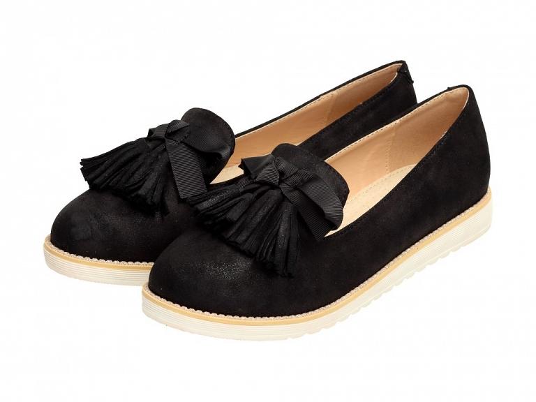 Czarne mokasyny, buty damskie VICES 7214-1 r39