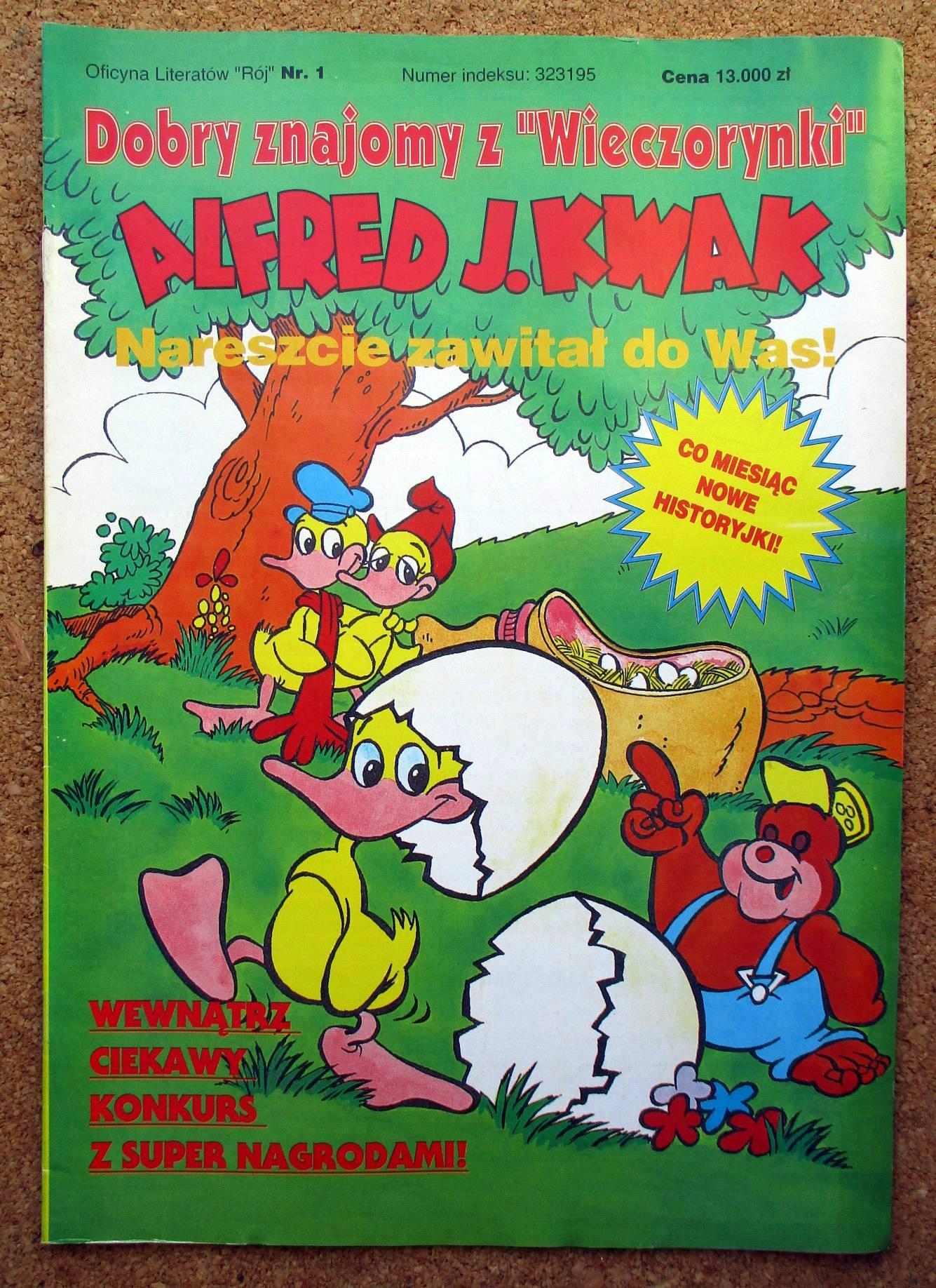 ALFRED J. KWAK 1 STAN BDB A4 KOMIKS J.KWAK UNIKAT