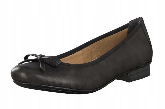 Rieker 51953-00 40 czarne buty baleriny balerinki