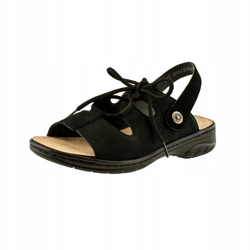 Wygodne skórzane Damskie sandały RIEKER Lekkie 39