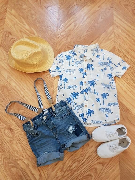H&m koszula palmy 98