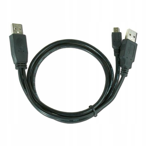 Podwójny Kabel USB do Mini USB iggual 0,9 m