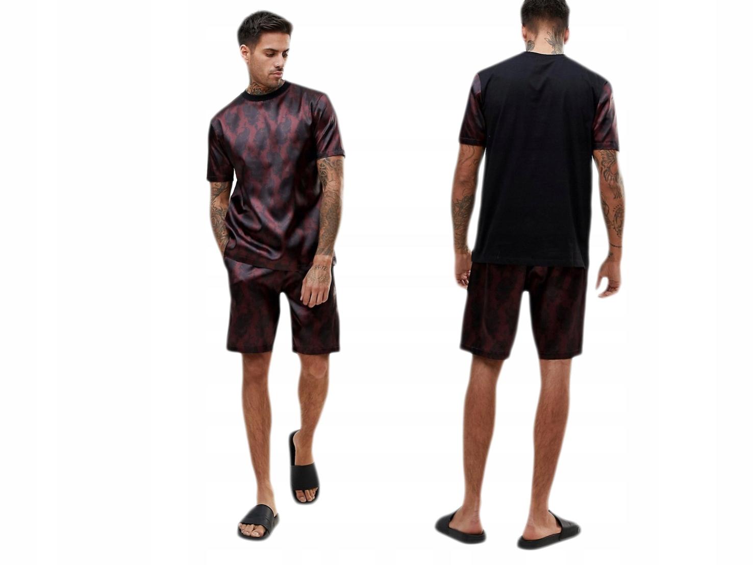Piżama męska komplet koszulka/spodenki L