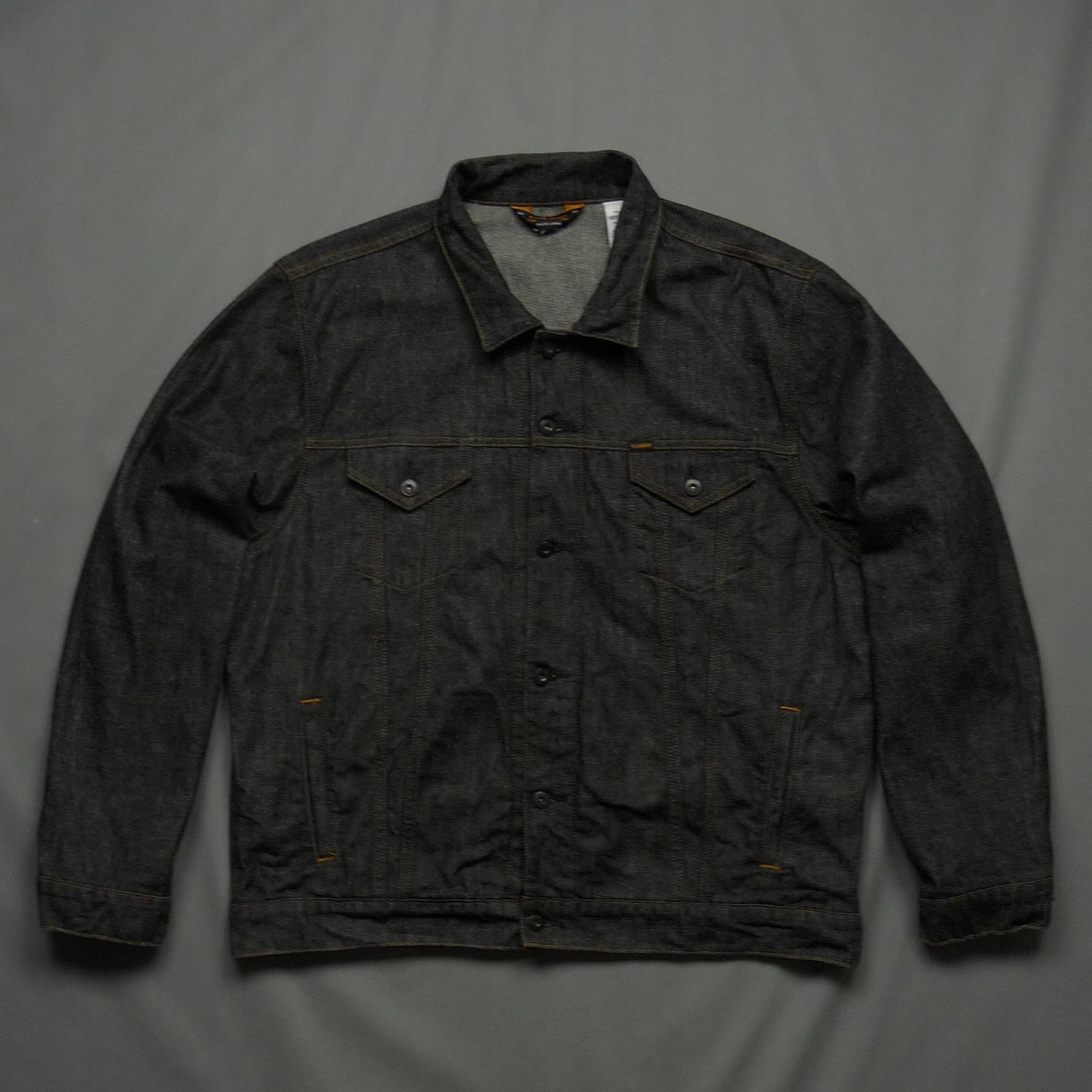 RALPH LAUREN czarna kurtka jeansowa z logo XXL