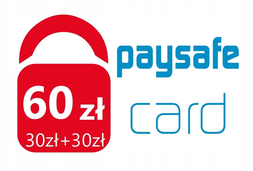 PaySafeCard 60 zł PSC Kod PIN Karta (30zł + 30zł)