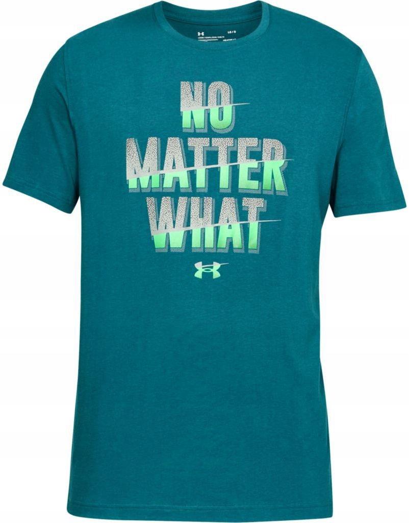 Under Armour No Matter What Short Sleeve Blue # L