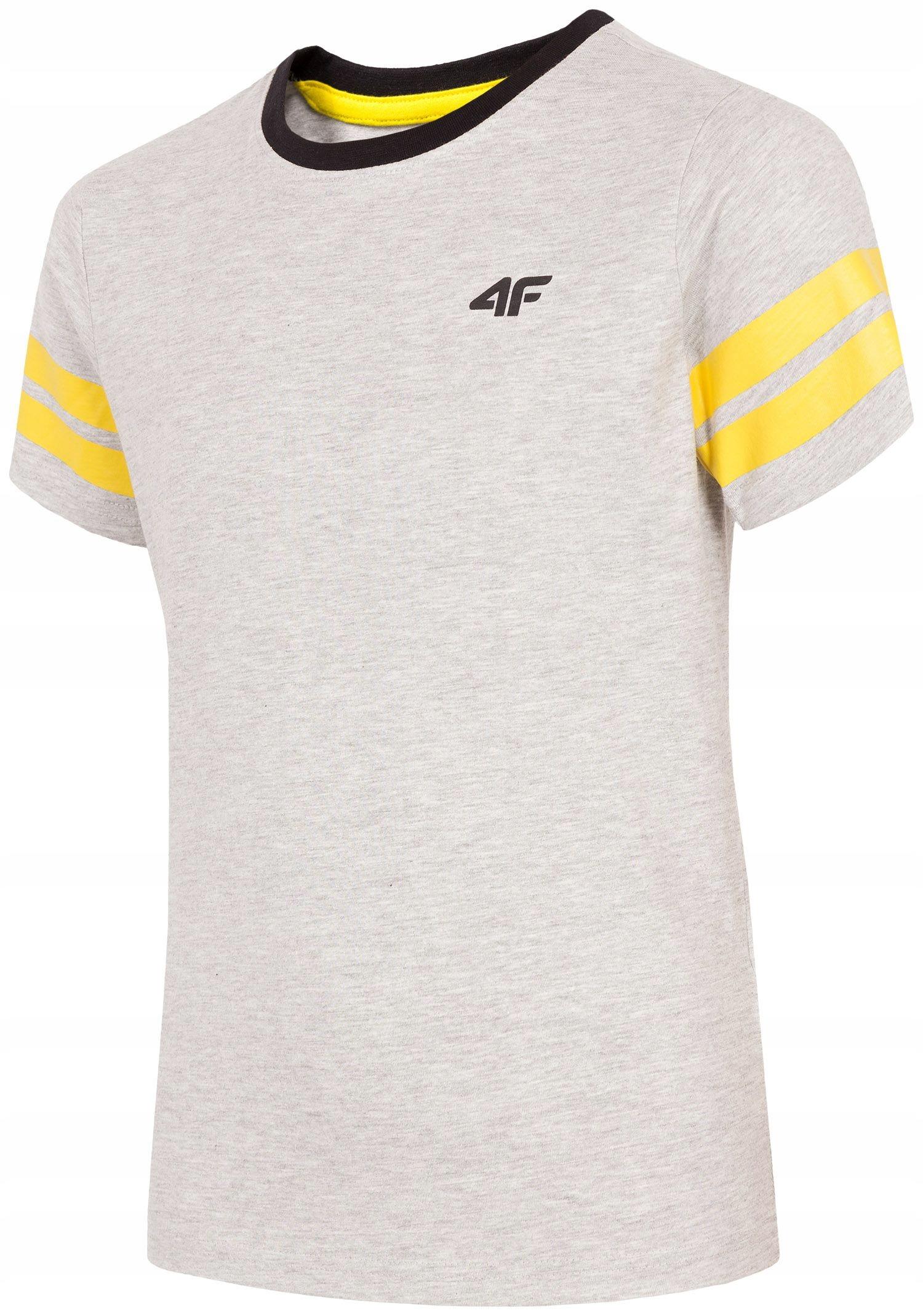 655174ef0 4F koszulka chłopięca t-shirt JTSM202A szary 158 - 7881919140 ...