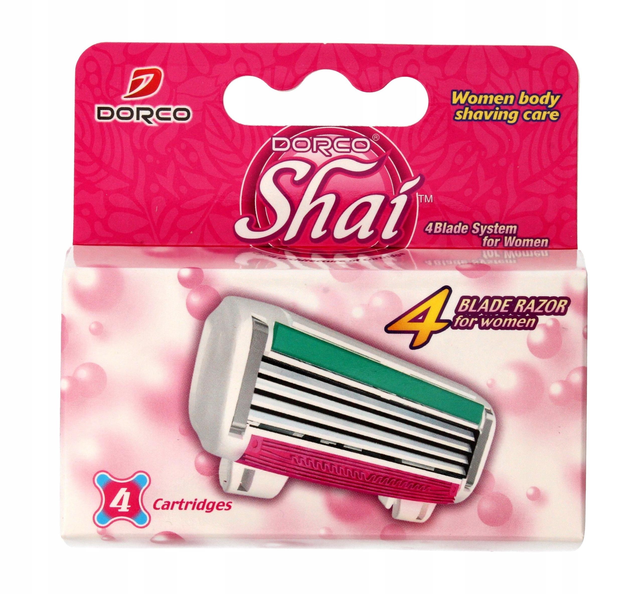 Dorco Shai 4 Wkłady do maszynki systemowej damskie