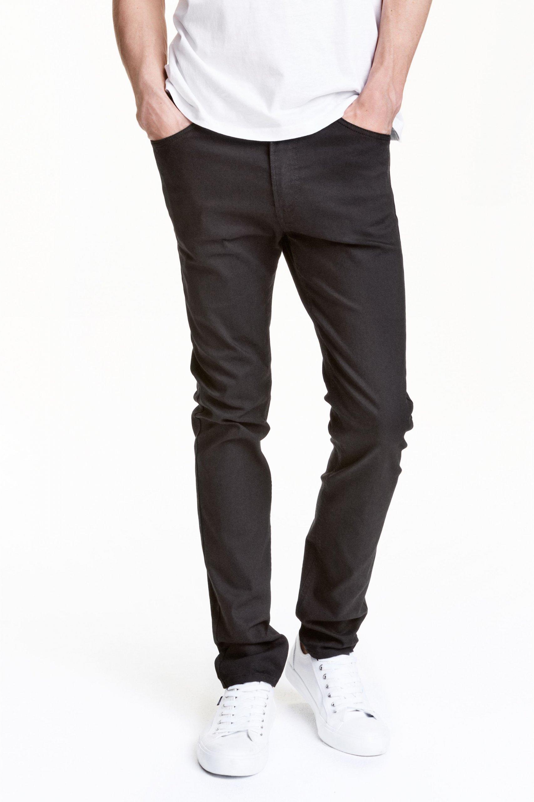 H&M DIVIDED spodnie SKINNY FIT LEG czerń W36 R