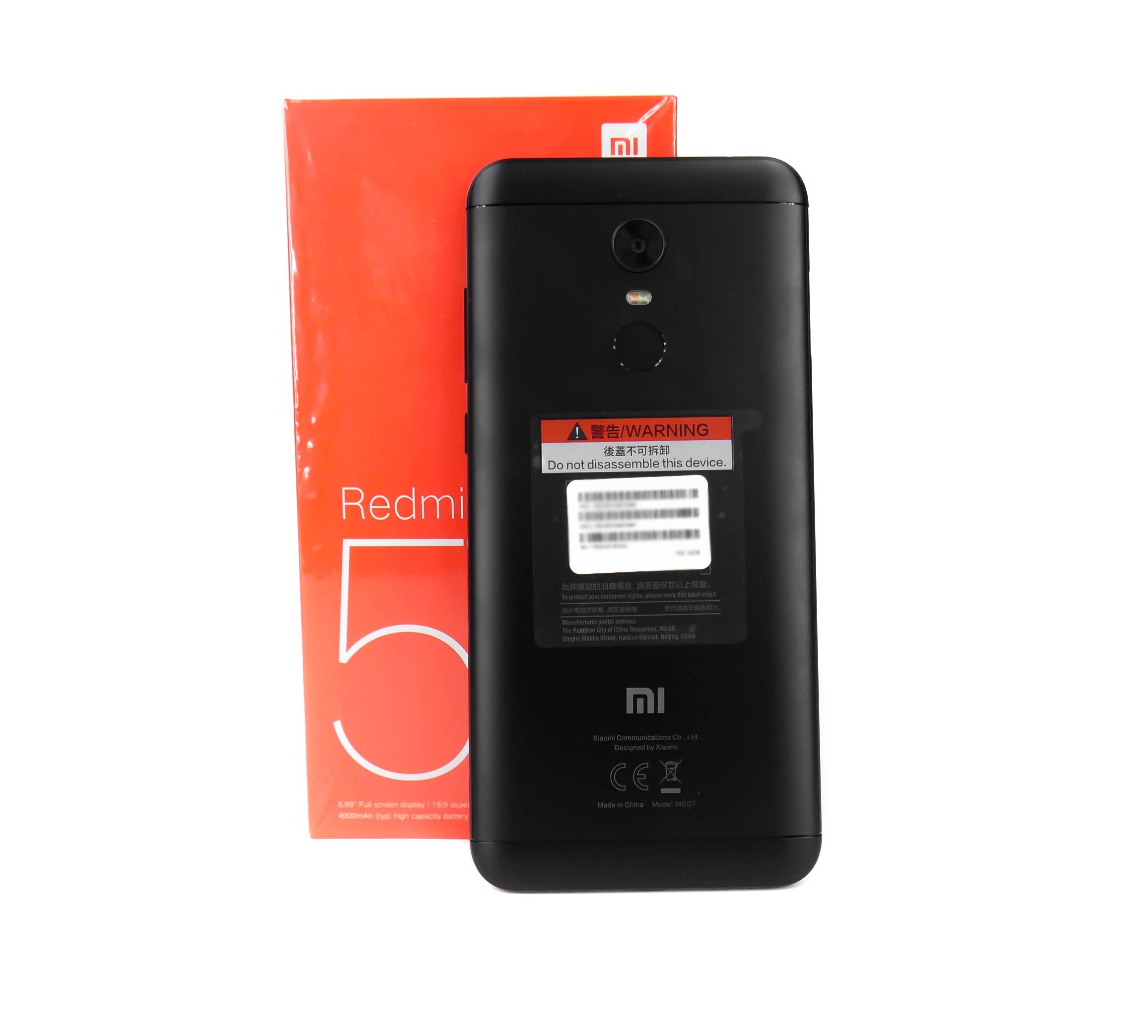 XIAOMI REDMI 5 PLUS 3 32 GB czarny VAT GRATIS