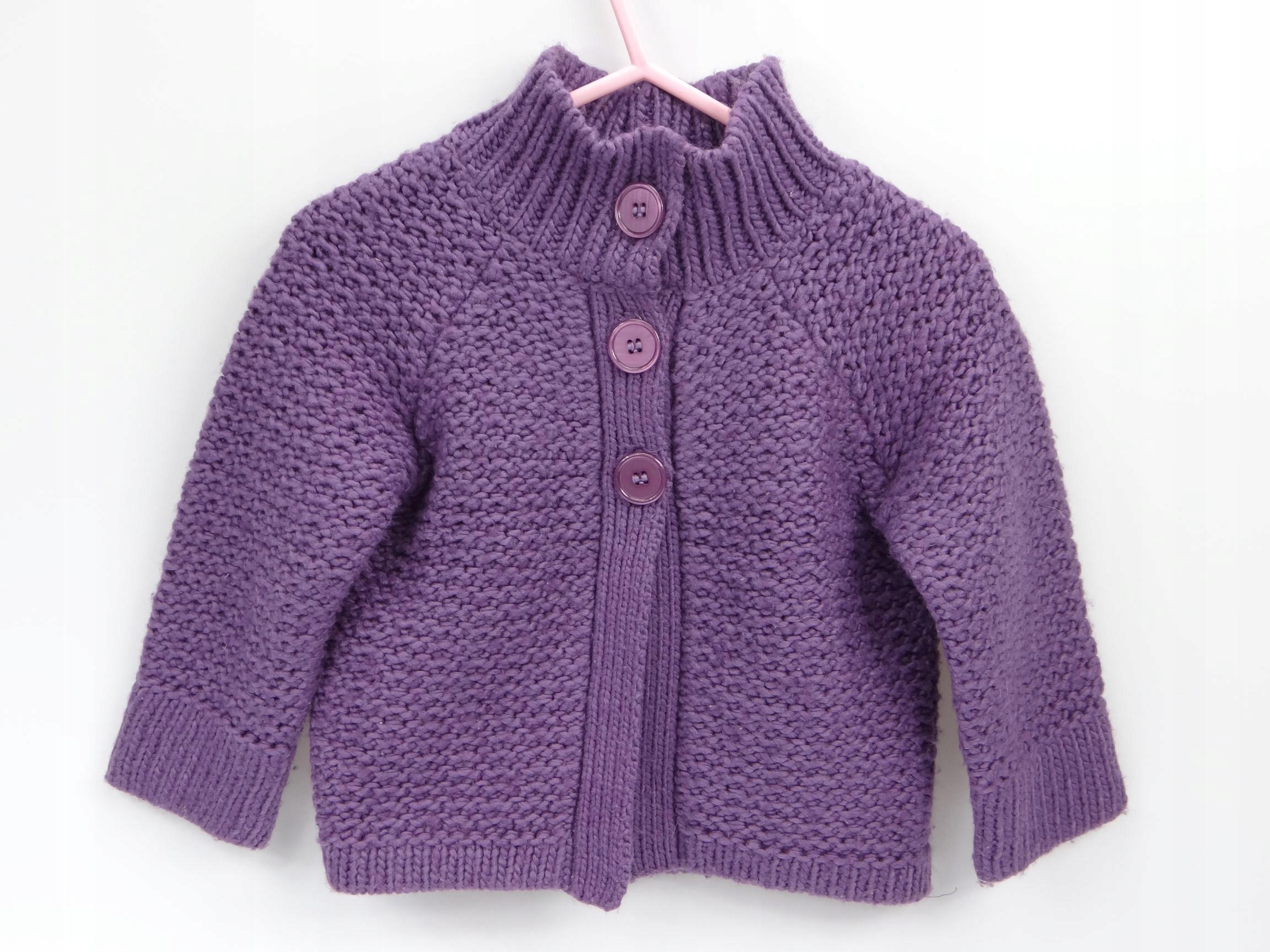 Sweterek fioletowy Cherokee 9-12 M (225)