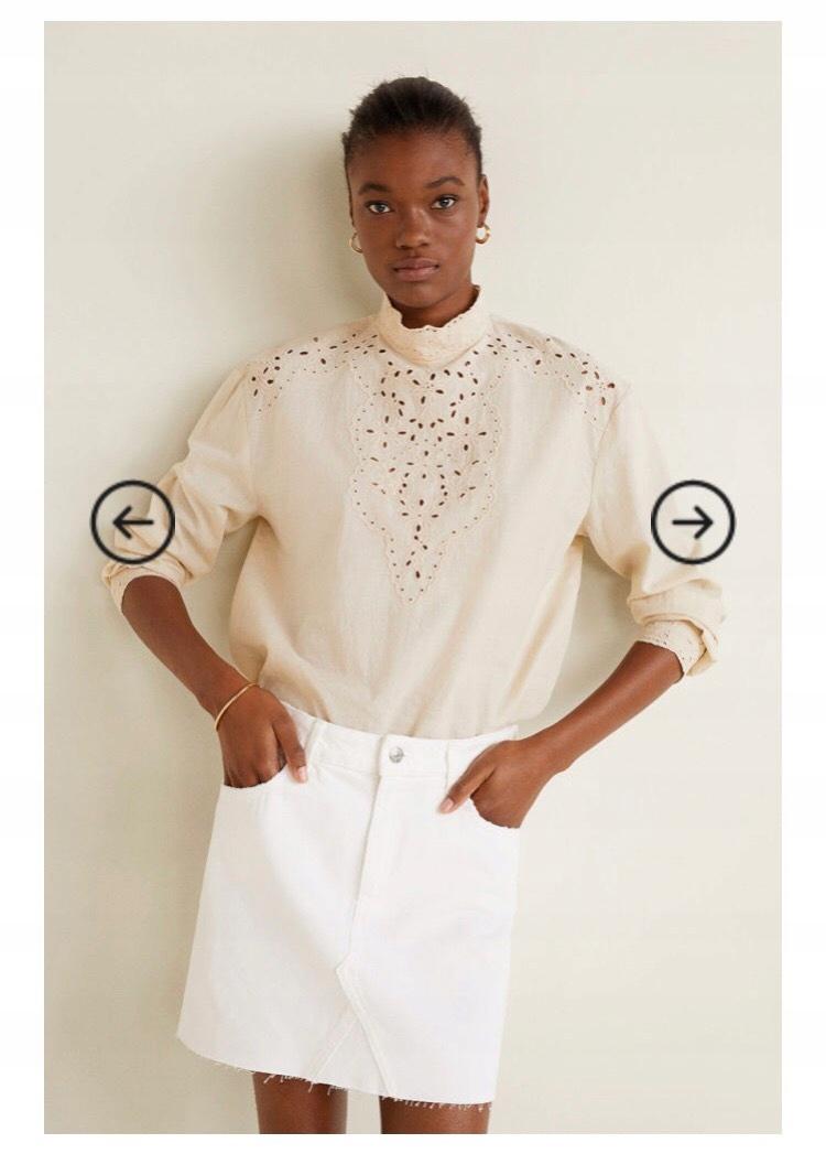 MANGO - Spódnica biała L