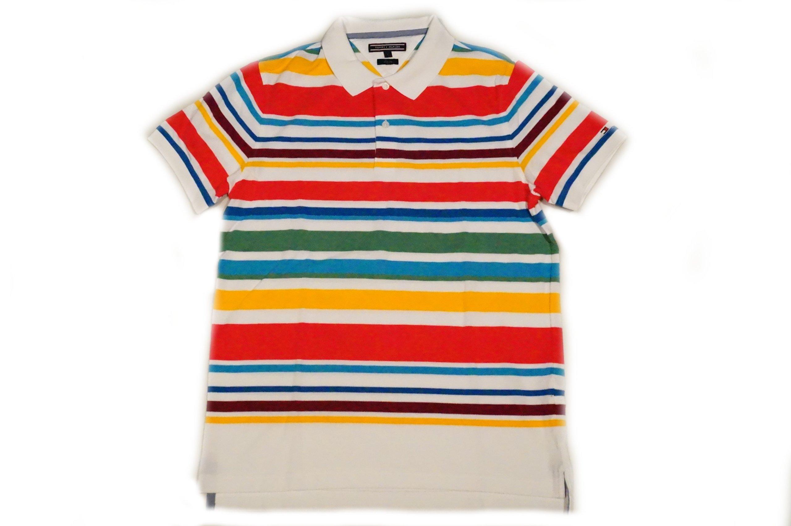 TOMMY HILFIGER Koszulka POLO WIELOKOLOROWA Roz: L