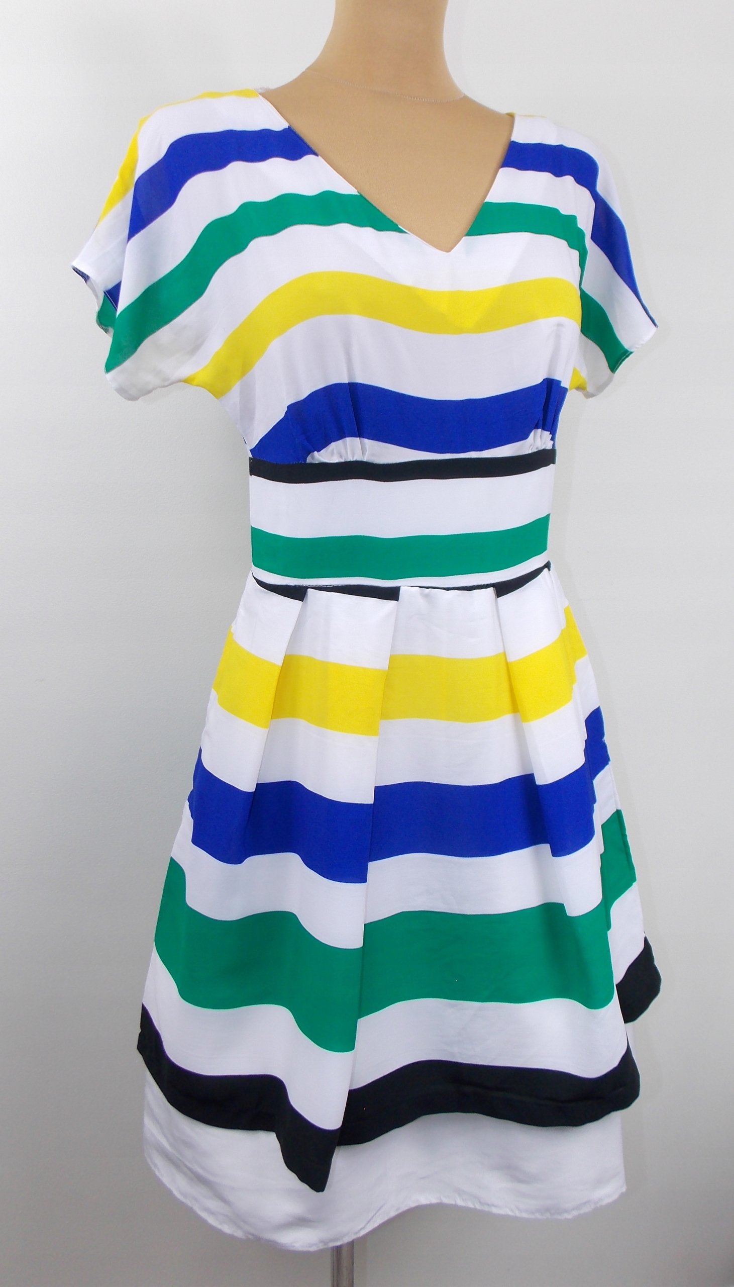 sukienka CLOSET styl ASOS elegancka biuro paski 36