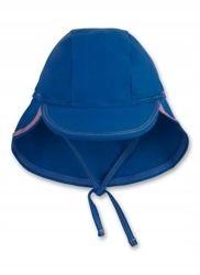Czapka do kąpieli Sanetta UV50 niebieska r.46