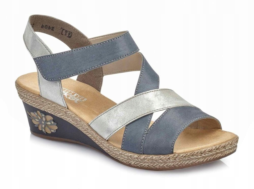 Sandały damskie Rieker V2404-12 niebieskie R.39