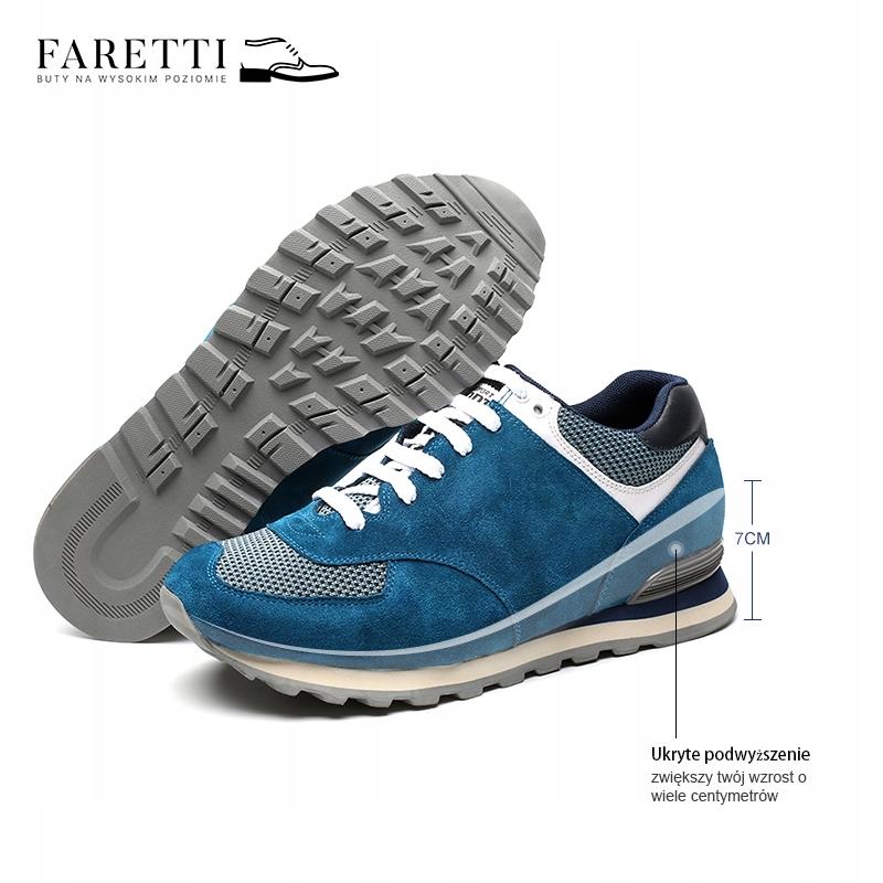 750316764a4af Męskie sportowe buty podwyższające +7 cm r. 39 - 7545173271 ...