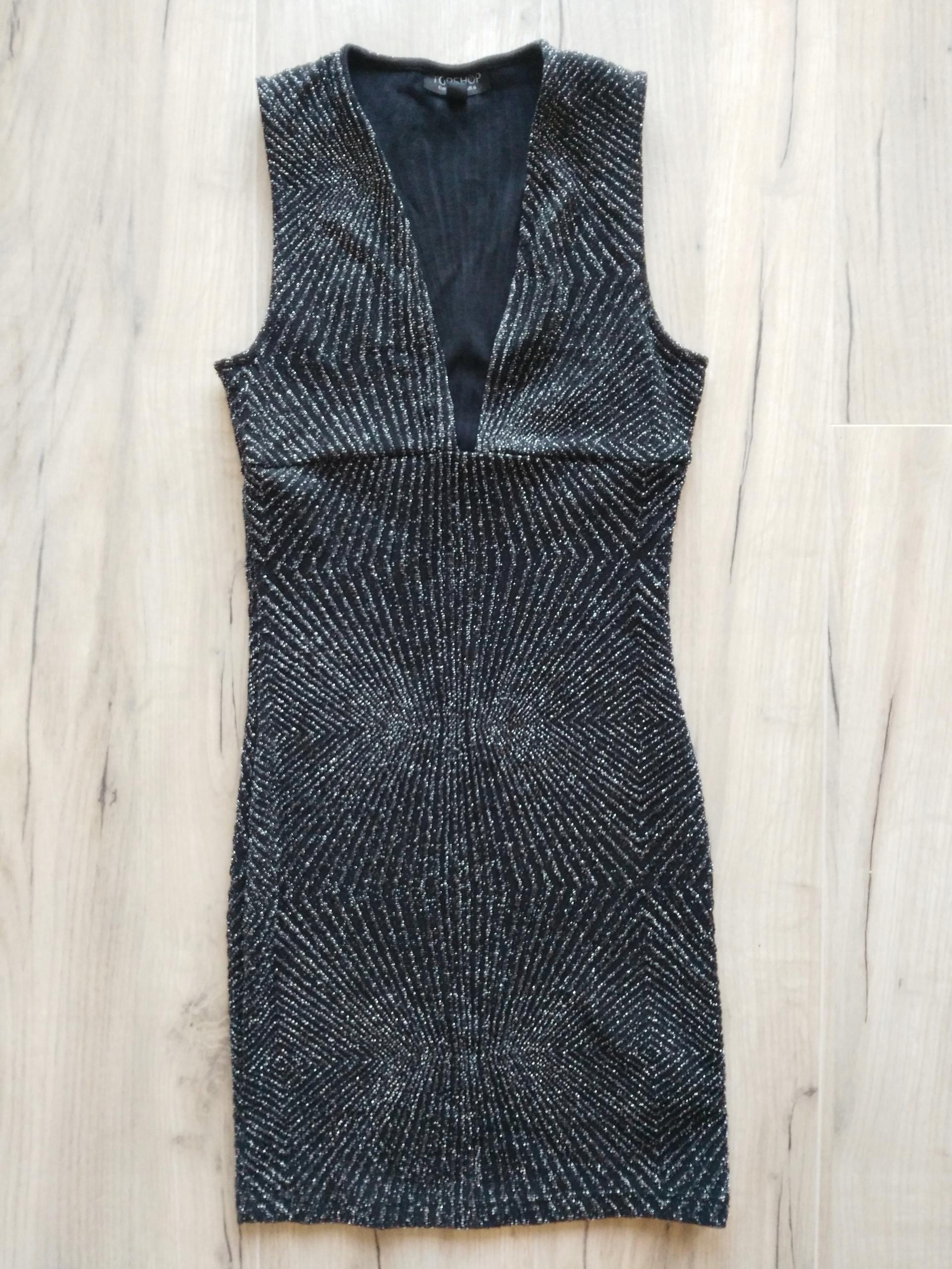 TOP SHOP sukienka, mini, czarna r. XS 34