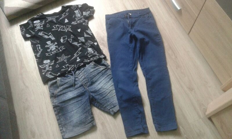 spodenki koszulka i spodnie 146