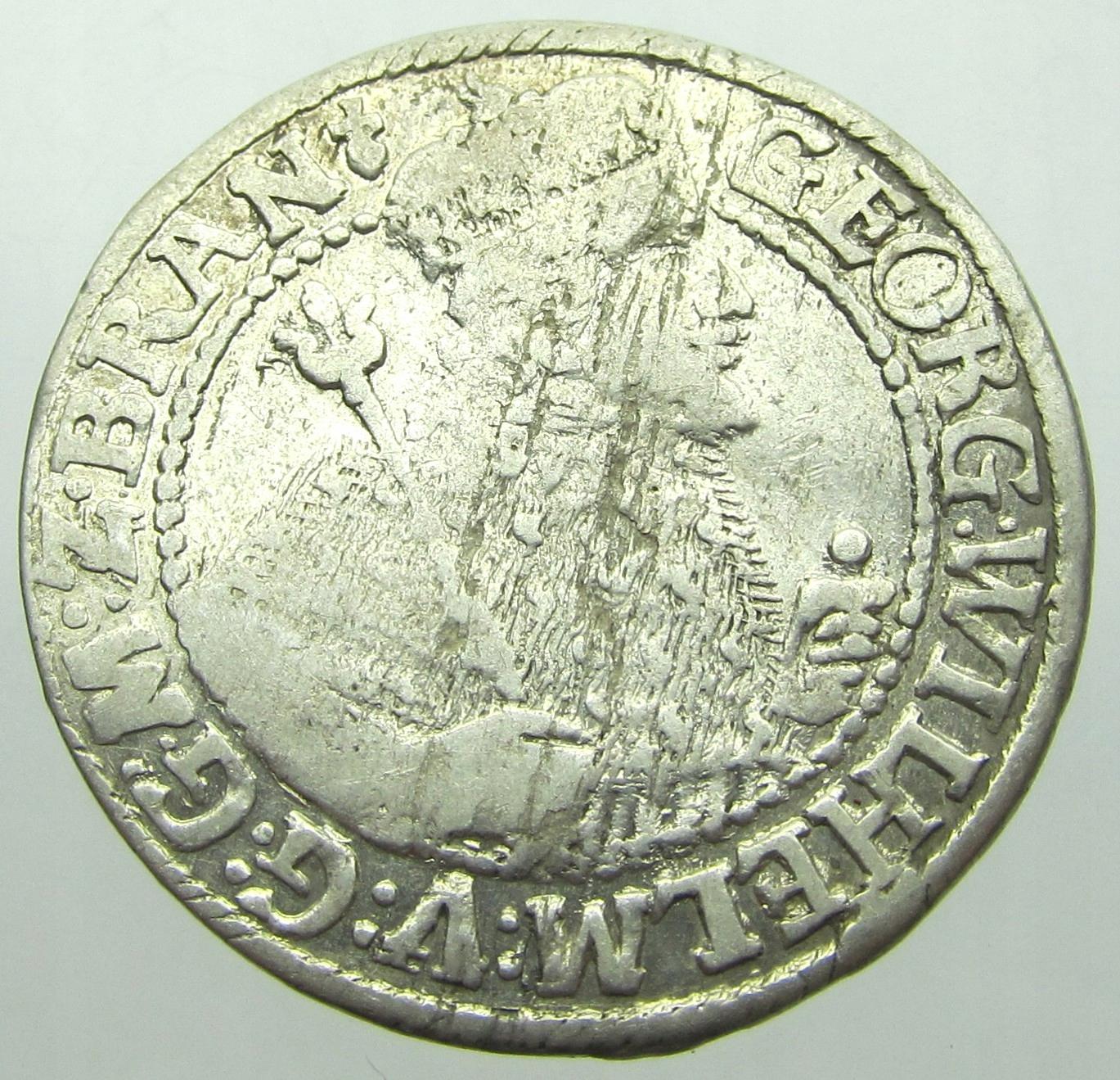 Jerzy Wilhelm Ort Pruski 1623/4 r. przebita data