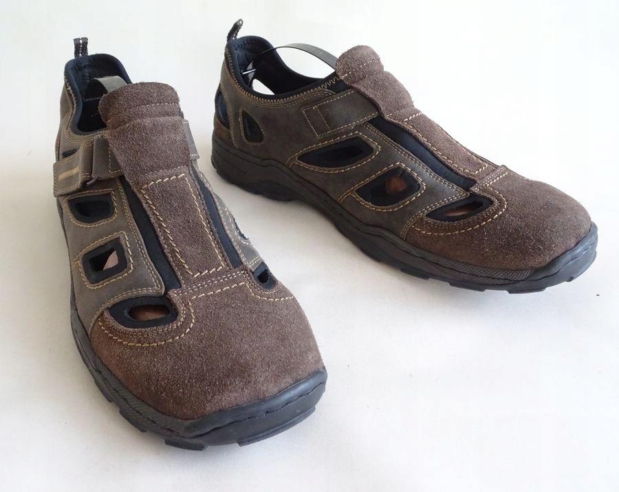 Rieker Antistress skórzane męskie sandały 47