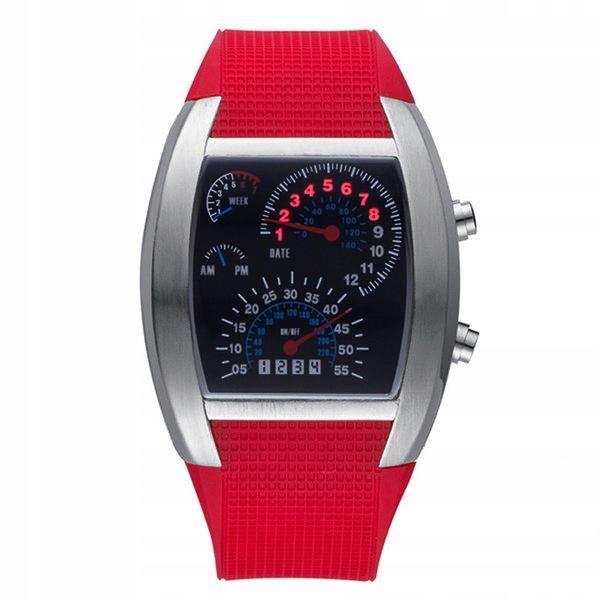 Zegarek damski TVG pasek elektroniczny LED 6xkolor